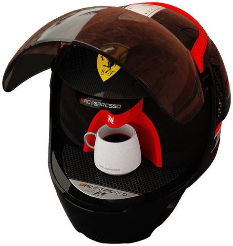 车迷不容错过的收藏 法拉利头盔式咖啡机