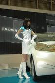 2009上海车展丰田车模清纯亮丽登场