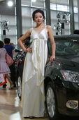 雷克萨斯美女模特车展实拍
