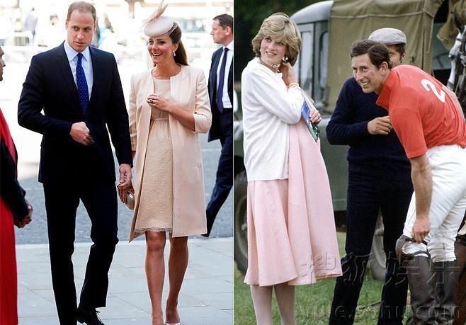盘点凯特王妃PK戴安娜王妃怀孕期间礼服装饰与剪裁的大衣和羊毛衫