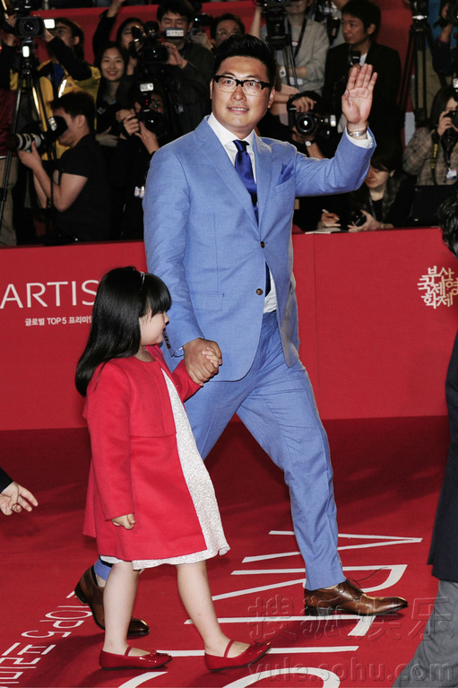 区电影殿堂的第19届釜山电影节开幕式上,当郭涛、张亮、王岳伦、图片