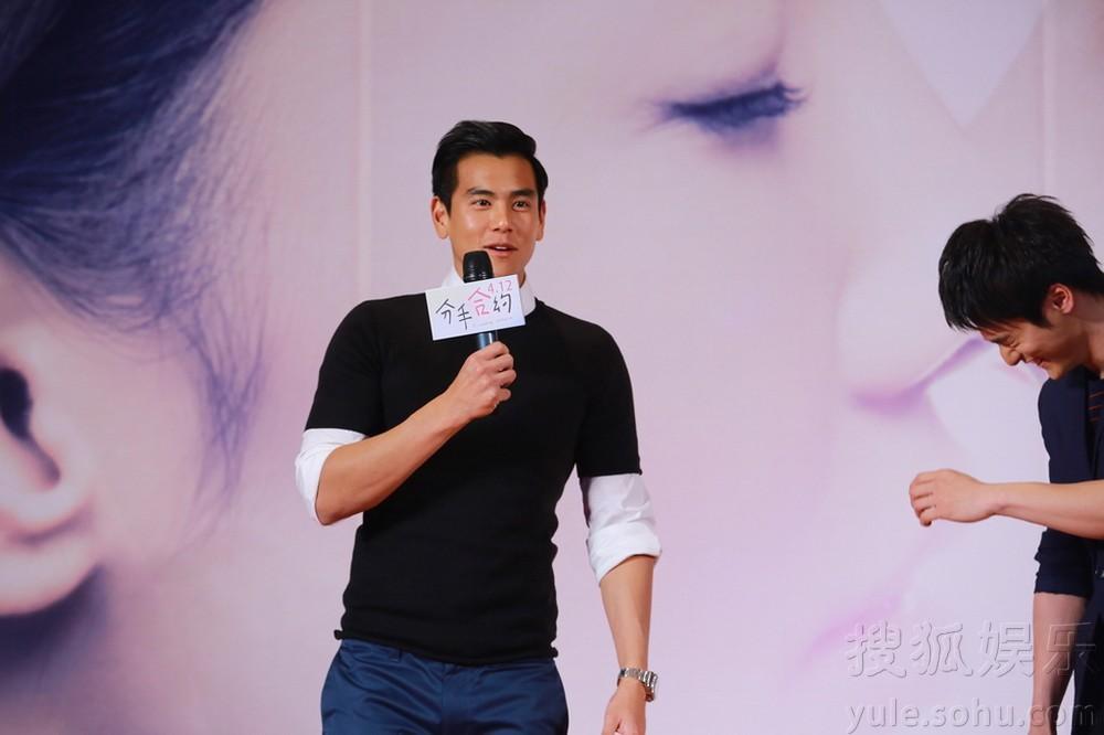 4月18日晚,电影《分手合约》在京举办票房过亿答谢会,彭于晏、