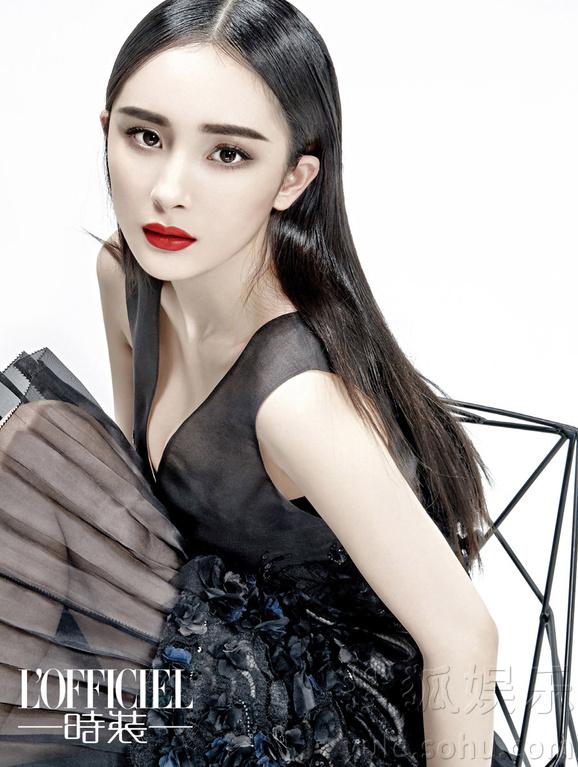 杨幂登时尚杂志封面 复古大片显干练优雅