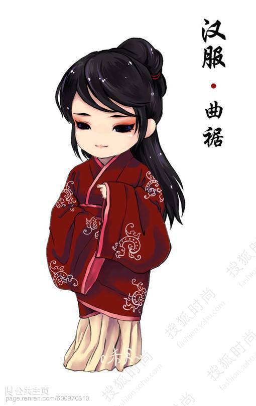 q版卡通手绘汉服 图解常见汉服款式5106503-搜狐时尚