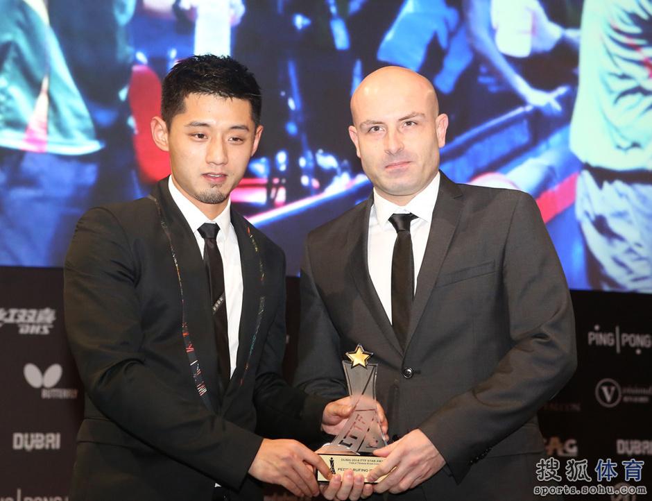 高清:丁宁获最佳女运动员奖
