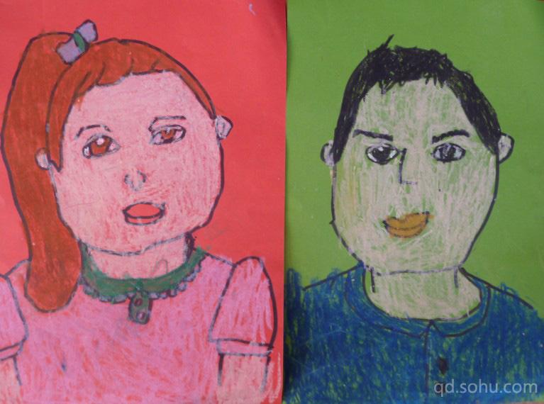 小学生高楼和彩虹绘画作品