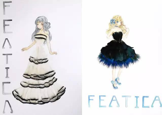 半立体服装设计,首先让他人联想到的是花瓣,树叶等,但这些材料并不