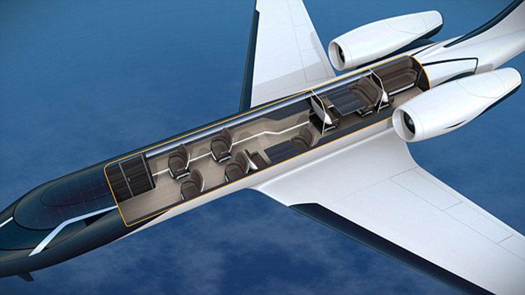 未来飞机概念图出炉:机身透明 无窗户7021819-焦点库