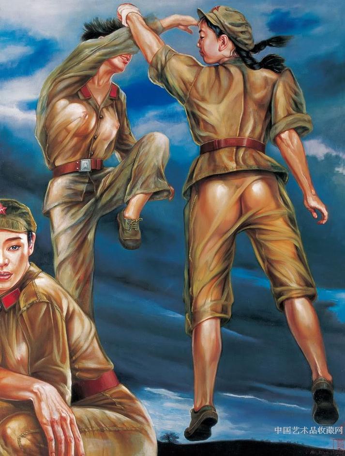 退伍女兵画的文革女军人