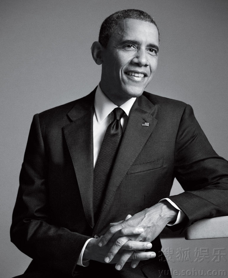 奥巴马总统登杂志封面 穿西装露笑精英范儿足