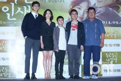 宋慧乔姜栋元等主演出席《忐忑人生》试映会