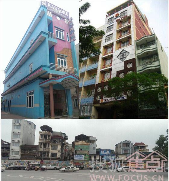 """另外越南的自建房是越南的""""四苗条""""之一,在河内街头,随处可见的是"""