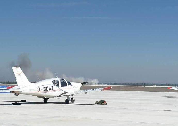 国际通用航空大会一飞机表演时发生坠机
