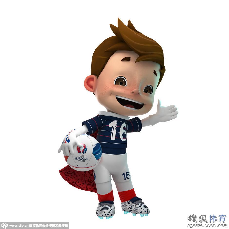 高清图:法国欧洲杯吉祥物亮相