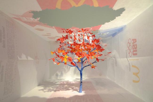 变废为宝 日本绝美立体纸雕图片