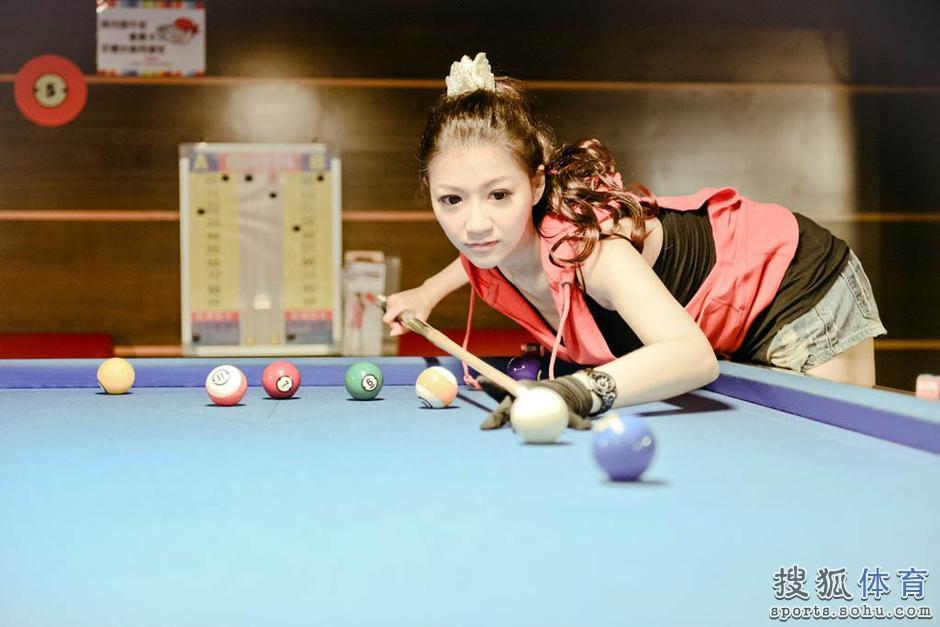 高清:台湾台球长腿清新美女