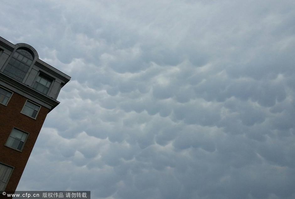多地上空出现乳房云 形状如同牛乳房 旅游图片
