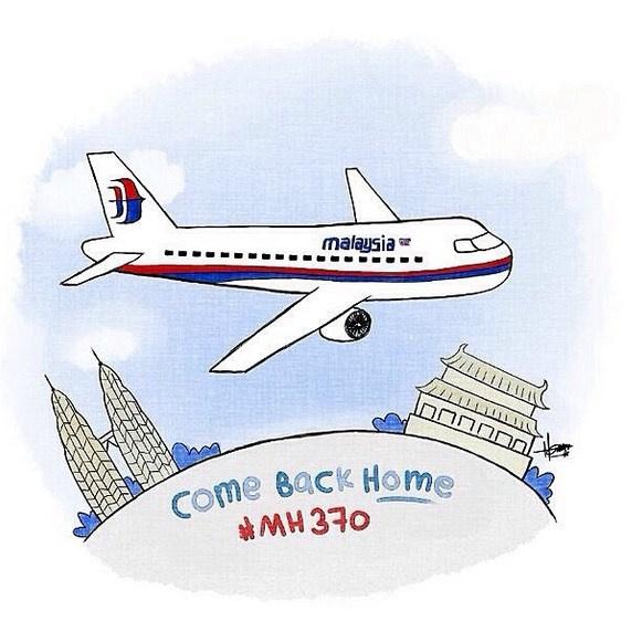 马航客机仍失联原因_全球关注马航失联客机 各国网友漫画祈福