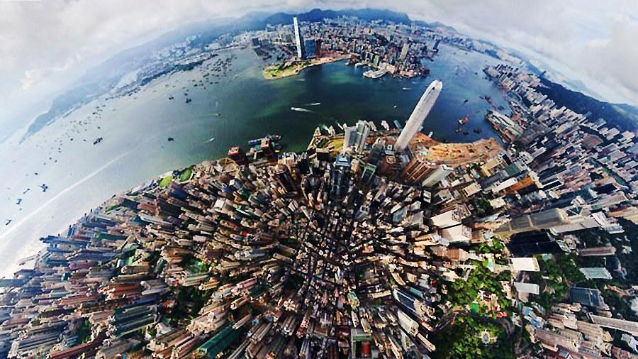360度航拍 全球城市3d效果全景图