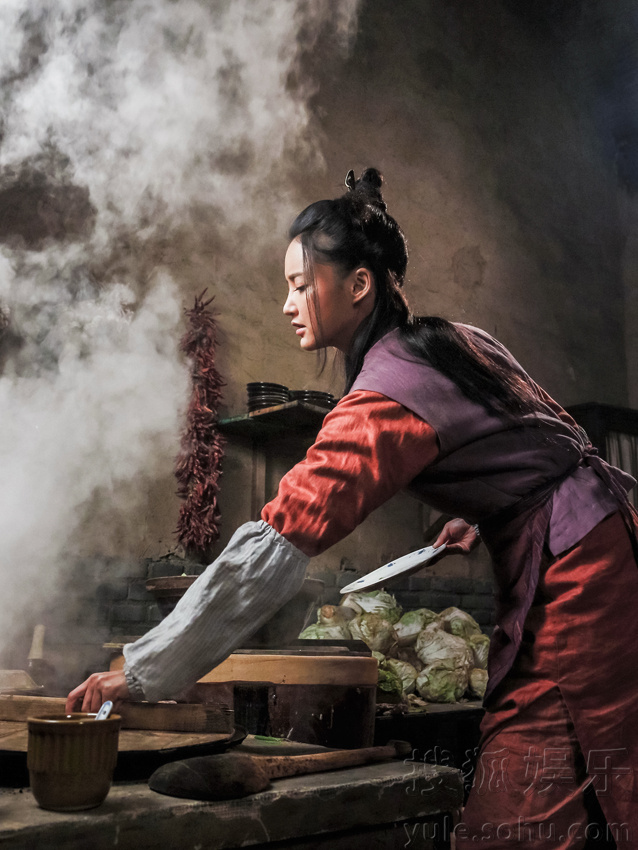 张歆艺厨娘剧照     搜狐娱乐讯 由安建导演执导,张歆艺,陈宝国