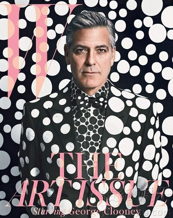 《w》杂志封面,84岁的日本设计师草间弥生为其量身打造波点风格大片