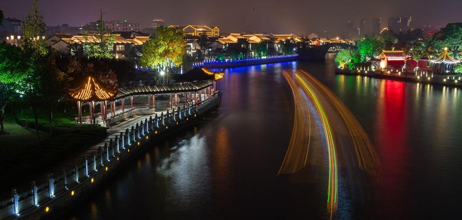 苏州市夜景美如画 千年古城静候世乒赛 - tianlong1952-518 - 天 龙 的博客
