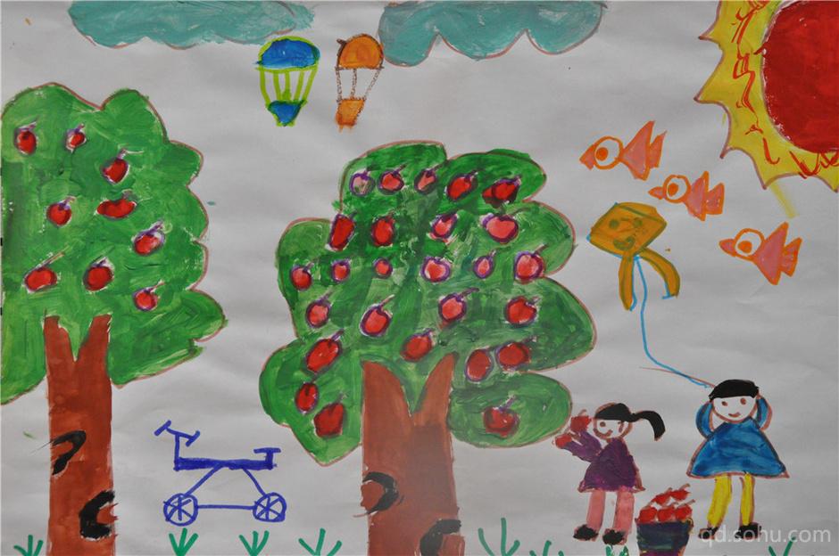 13 果园 阳阳 由搜狐青岛主办的第二届青岛市自闭症儿童绘画展已于20