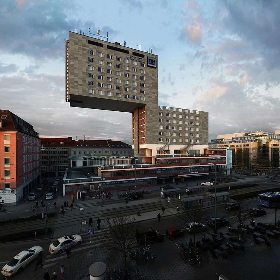 建筑摄影师ps下的慕尼黑酒店 未来派色彩