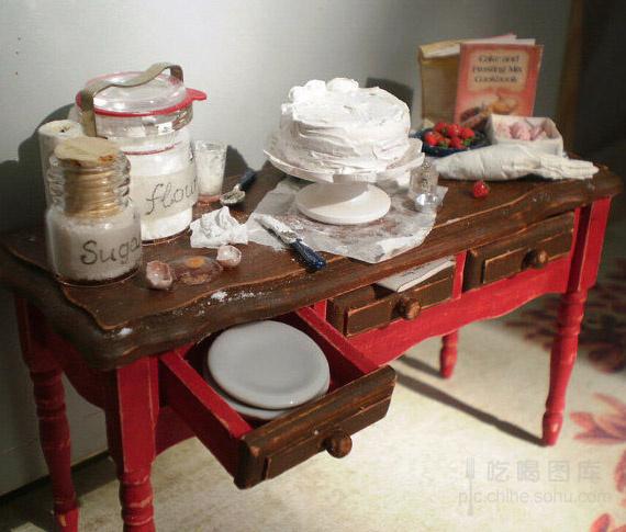 粘土作品大全图片步骤桌椅
