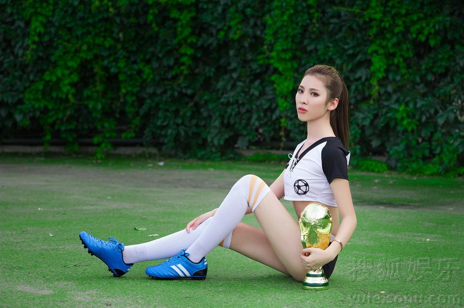 嫩模时尚大片助威世界杯 性感可爱时尚青春