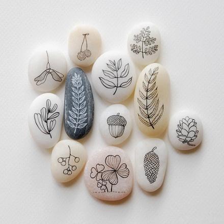 清新 石头/超美的手绘石头 温润平静的心灵享受(1/11)