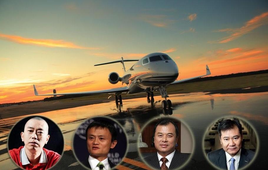 """中国富豪的""""标配"""":私人飞机6061299-男人图片库"""