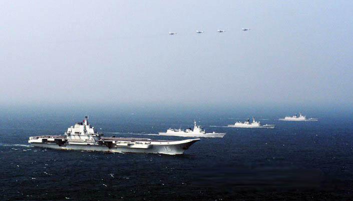 弘扬辽宁粹�g��b���9��_航母南海训练期间首次组织了作战系统综合研试,首次组织了以辽宁舰为