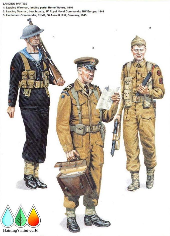 二战英国皇家海军军服图册7688699-军事频道