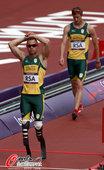 北京时间8月9日晚,2012年伦敦奥运会进入第13日角逐。在奥林匹克体育场进行的男子4x400米接力...