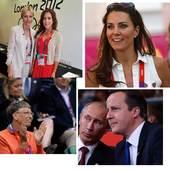 伦敦奥运会自开幕式开始名流云集,包括联合国秘书长潘基文、俄罗斯总统、总理、法国总理、丹麦公主以及英国...