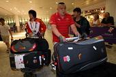 北京时间8月5日中国女摔跤队抵达伦敦,准备参加接下来的奥运比赛。(摄影 黎晗)更多奥运视频>> 更多...