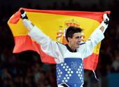 北京时间8月9日凌晨,2012年伦敦奥运会继续第12日角逐。在ExCeL展览中心进行的跆拳道男子58...
