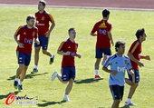 2012年7月9日,2012年奥运会前瞻,西班牙足球队训练备战。