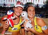 2012年7月19日,2012年国际沙滩排球世界大满贯奥地利站,美女都爱文洛克。