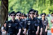 G20杭州峰会:女子巡逻队制服墨镜现身西湖