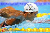 2012年7月27日,法国游泳队在英国伦敦的奥林匹克水上运动中心进行训练,其中拥有法国美人鱼之称的劳...