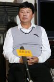 2012伦敦奥运会女子网球比赛结束后,搜狐体育在伦敦中国国家网球队驻地对中国国家网球队主教练蒋宏伟进...