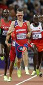 当地时间2012年8月7日,挪威田径选手亨里克-因格布里格特森在男子1500米中夺得了第五名,也创下...