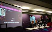 7月23日,伦敦奥运会羽毛球比赛抽签仪式在主新闻中心举行。羽毛球比赛将于7月28日至8月5日在伦敦温...