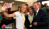 2012年7月27日,2012年伦敦奥运会,爱尔兰总理肯尼接见本国代表团。更多奥运视频>> 更多奥运...