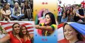 奥运赛场上运动员们挥汗如雨,赛场边上美女观众们也是争奇斗艳。让我们悉数这些奥运美女观众吧。更多奥运视...