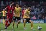高清图:恒大0-0客平阿赫利 郜林造红牌对手离场