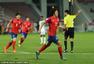 高清:奥预赛日本3-2韩国夺冠 植田直道带球狂奔