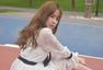 赵慧仙私服街拍示范 白色纱裙少女心十足